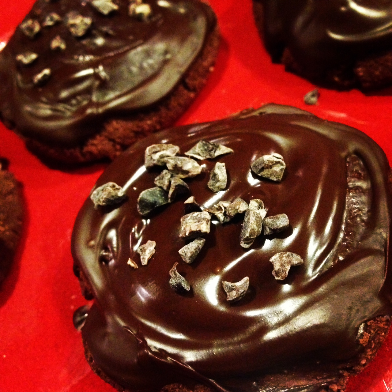 Chocolate covered red velvet protein bars