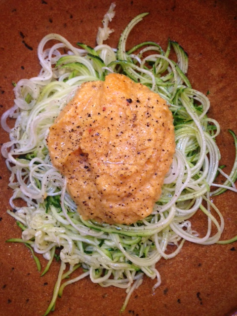 Sweet Potato and Zoodles