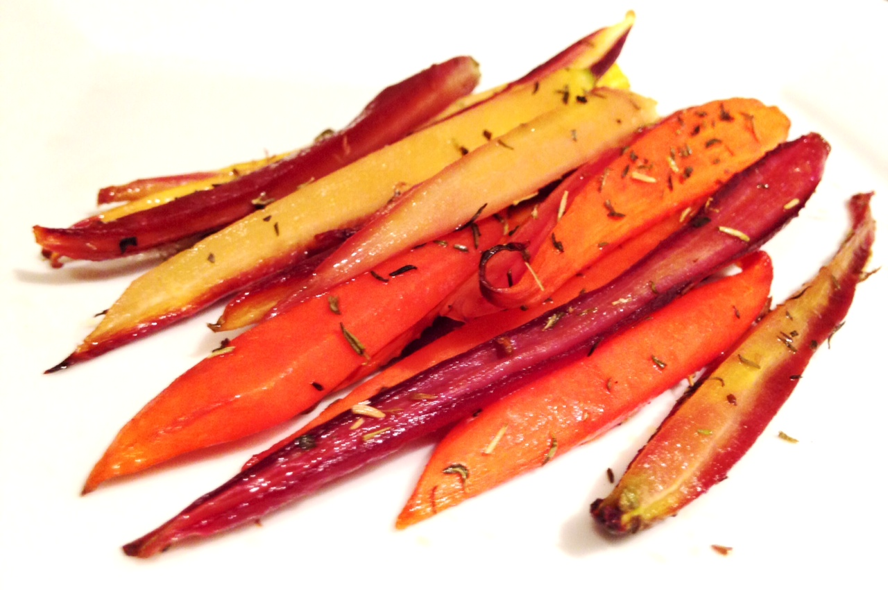 Savory and Sweet Roasted Carrots