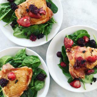 Summer Berry Chicken Thighs
